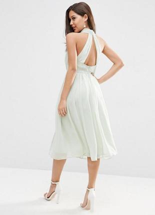 Тотальний розпродаж тільки до 15 серпня !!!  платье миди с халтером asos design