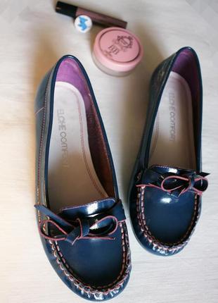 Лоферы лаковая кожа, туфли, мокасины