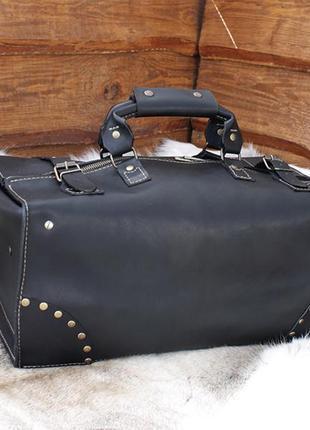 Кожаная дорожная сумка, саквояж