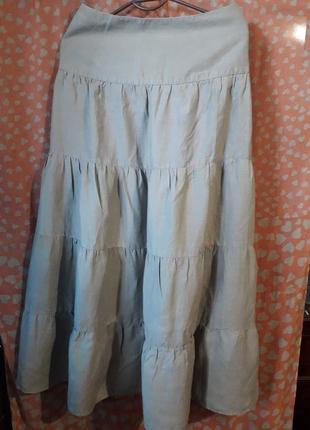 Длинная юбка из натурального льна.от marks@spencer.