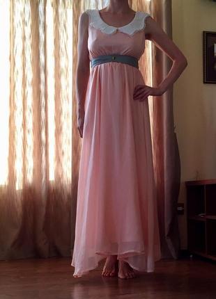 e7bd0e9b3a28731 100% шёлк, пудро-розовое брендовое платье можно беременной длина макси