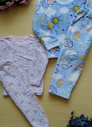 Набор теплых пижам (махровая и с начесом), 98-104, 100% хлопок