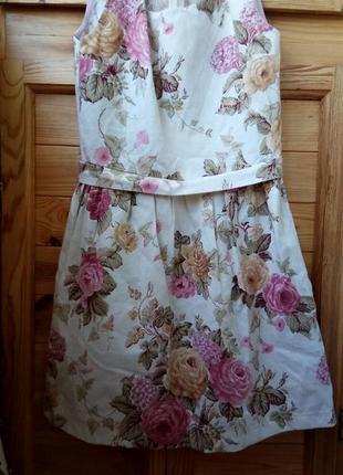 Нежное белое хлопковое платье3 фото