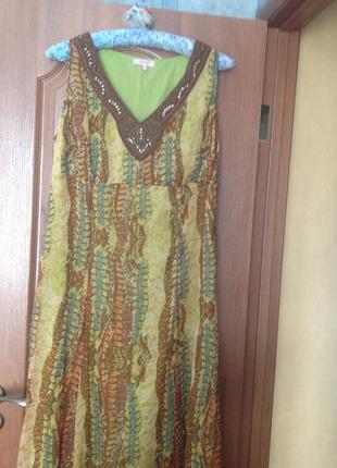 Легкое летнее платье в пол от marks&spencer р.18 3xl