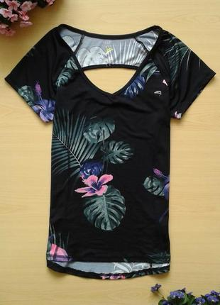 Спортивная футболка f&f active, тропический принт, 12 (40)