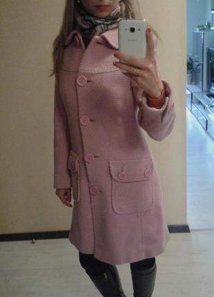 Стильное пальто 80% шерсть 42-44, s