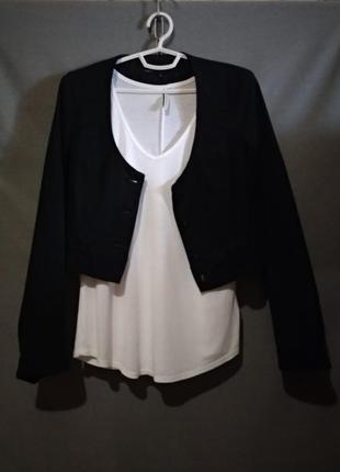 Джинсовый пиджак жакет черный