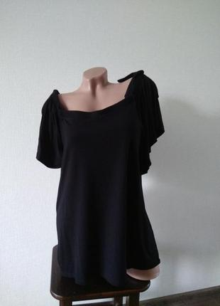 Футболка блуза голые плечи размер 14 хл