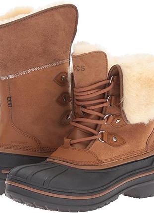 Зимние ботинки crocs allcast ii luxe snow boot 34-35р. 22. 9 см
