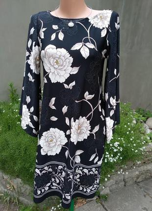 Женственное нежное платье-миди трапеция от dorothy perkins