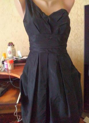 💞👗драпированное коктельное платье из ацетата 34 oasis.распродажа.