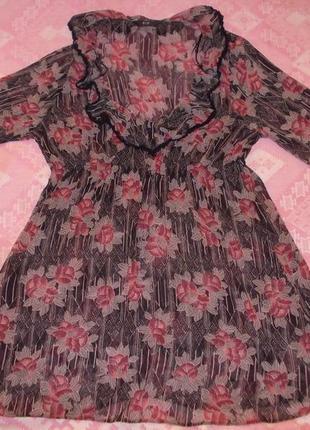 Пляжное платье, туника размер l-14 наш 48
