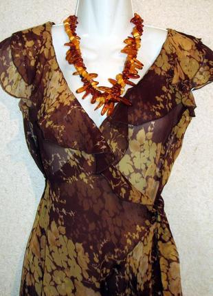 Max mara летящее воздушное платье -халат  оборки запах италия