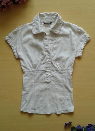 Рубашка, короткий рукав, s, 100% хлопок
