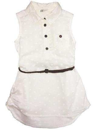 Новое платье-рубашка без рукавов, h&m, 0485086