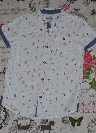 Нарядная рубашка f&f на 7-8 лет