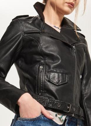 Куртка косуха байкер экокожа