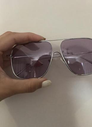Суперские очки фиолетовые