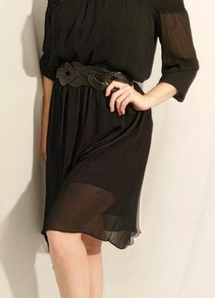 2027 черное воздушное платье lost ink xxl