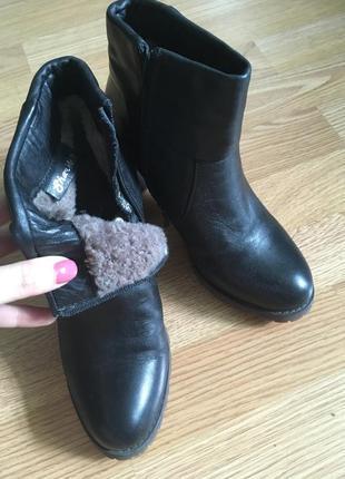 Зимние полусапожки на удобном каблуке
