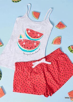 Размеры s m l летняя пижама майка и шорты primark