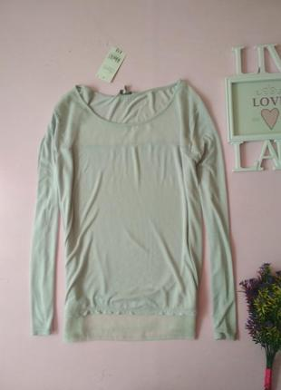 Легкий комбинированный джемпер, блуза peacocks