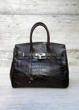 Hermes birkin кожаная сумка (100% кожа снаружи и внутри ) hermès