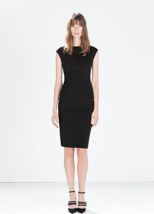 Черное, базовое  платье zara