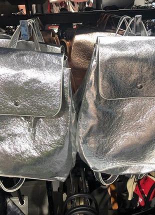 Серебряный городской рюкзак amisu