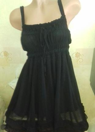 Платье сарафан шифон с рюшами