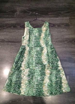 Зеленое плотное платье  zara