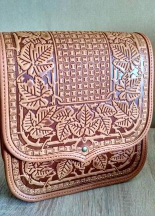 fdec8602fe48 Стильная кожаная сумка ручной работы, цена - 1400 грн, #13645535 ...