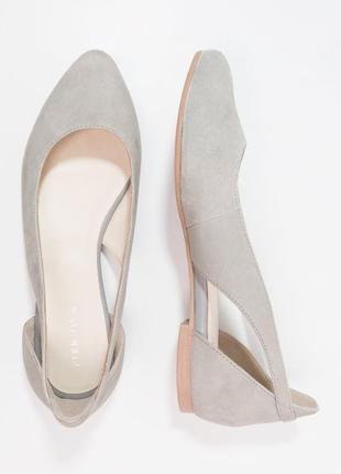 Милые кожаные балетки pier one eur42 27см