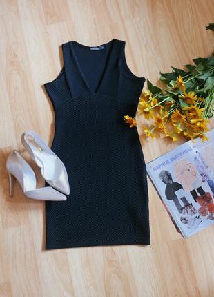 Фактурное платье мини boohoo