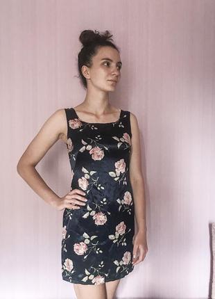 Платье с цветочным принтом h&m