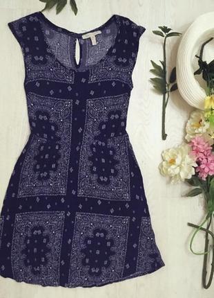 Сукня бохо в крутий принт легка