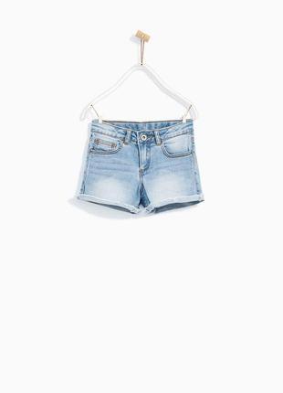 Світлі джинсові шорти zara