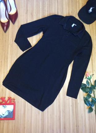 Стильное трикотажное платье рубашка, размер l