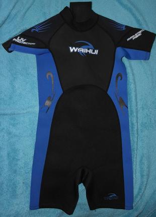 Гидрокостюм неопрен waihui 7-8 лет костюм купальный для плаванья детский