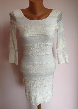 Еластичное короткое платье. /xs- s/ topshop