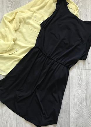Чёрное платье сарафан h&m