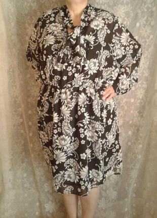 Красивое шифоновое платье ( туника, блуза), one size.