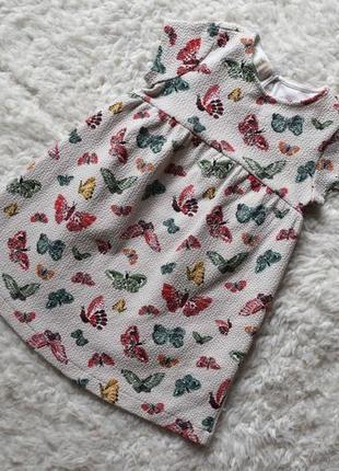 Платье  с бабочками zara