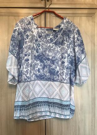 Новая вискозная красивая блуза indigo 18-20pp