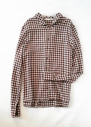Базовая рубашка в клеточку от zara