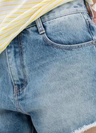 Джинсовые шорты с высокой посадкой zara