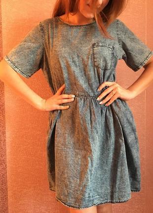 Джинсовое летнее платье denim co