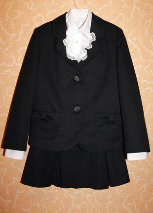 Костюм школьный на девочку сашка - пиджак юбка и жилет
