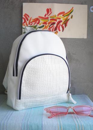 Мега белый рюкзачек ручной работы