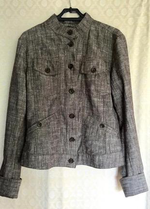 Крутейший льняной жакет пиджак куртка
